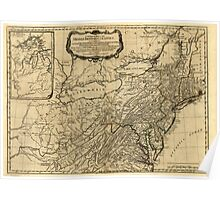 American Revolutionary War Era Maps 1750-1786 031 A general map of the middle British colonies in America 02 Poster
