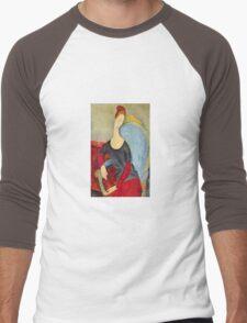 Amedeo Modigliani - Mme Hebuterne In A Blue Chair Men's Baseball ¾ T-Shirt