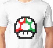 8-Bit Mushroom and 1-up Mushroom Unisex T-Shirt