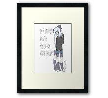 Furry Pride Framed Print