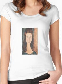 Amedeo Modigliani - Portrait Of A Young Girl Women's Fitted Scoop T-Shirt