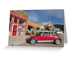 MINI Moments, Philipsburg, Montana Greeting Card