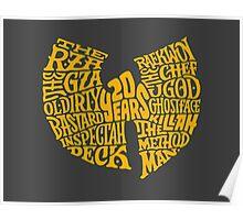 Wu Tang Text Poster