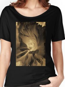 Dark flower photography in sepia Women's Relaxed Fit T-Shirt