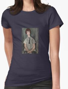 Amedeo Modigliani - Young Girl In A Striped Shirt Womens Fitted T-Shirt