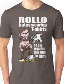 Rollo hates (White text) Unisex T-Shirt