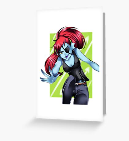 Undyne the Undyng Greeting Card