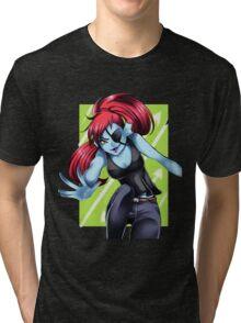 Undyne the Undyng Tri-blend T-Shirt