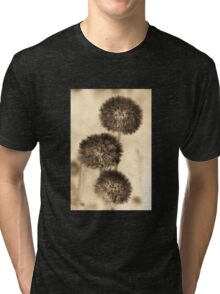 Dandelion photography in sepia Tri-blend T-Shirt