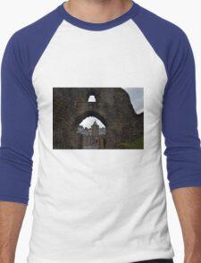 Launceston Castle.....Cornwall UK Men's Baseball ¾ T-Shirt