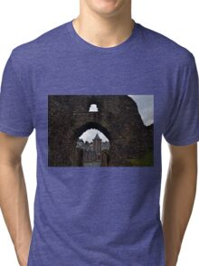 Launceston Castle.....Cornwall UK Tri-blend T-Shirt