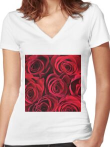 Roses (Eternal Collection) Women's Fitted V-Neck T-Shirt