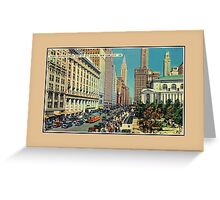 Retro vintage 42nd Street New York City Greeting Card