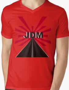 JDM Red Sun Mens V-Neck T-Shirt