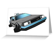Delorean, back to the future Greeting Card