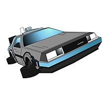 Delorean, back to the future Photographic Print