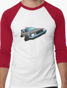 Delorean, back to the future Men's Baseball ¾ T-Shirt