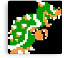 8-bit Bowser Canvas Print