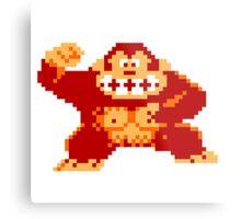 8-Bit Donkey Kong Metal Print