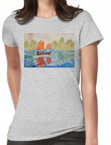 chinese landscape Womens Fitted T-Shirt