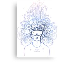 Graphic man in virtual reality glasses Canvas Print