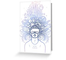Graphic man in virtual reality glasses Greeting Card