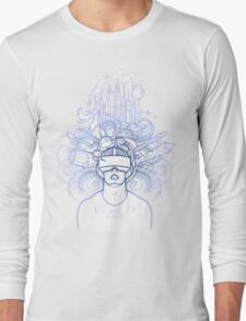 Graphic man in virtual reality glasses Long Sleeve T-Shirt