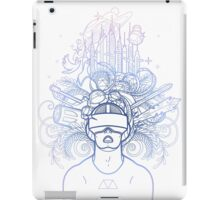 Graphic man in virtual reality glasses iPad Case/Skin