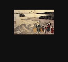 'Women on the Beach of Enoshima' by Katsushika Hokusai (Reproduction) Unisex T-Shirt