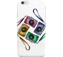 Multicolor vintage reflex cameras iPhone Case/Skin