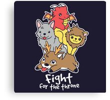 Fight for the throne Canvas Print