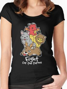 Fight for the throne Women's Fitted Scoop T-Shirt