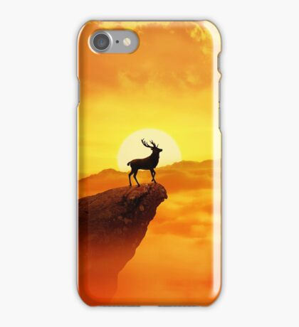 lonely deer iPhone Case/Skin