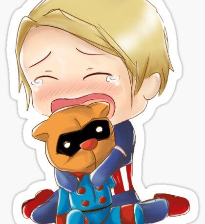 Bucky Bear lost an arm Sticker
