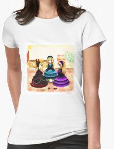 Doll Tea Party Womens Fitted T-Shirt