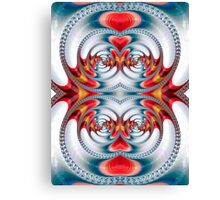 Mirrored spirals Canvas Print