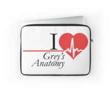 Grey's Anatomy --- I Love Grey's Anatomy (black text) Laptop Sleeve