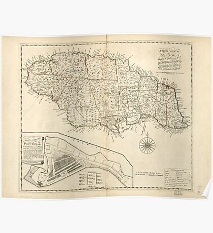 American Revolutionary War Era Maps 1750-1786 165 A new map of Jamaica in which the several towns forts & settlements are accurately laid down as well as the Poster
