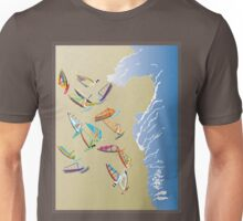 Windsurfers on the beach Unisex T-Shirt