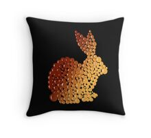 Sunset Rabbit  Throw Pillow