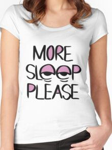 Sleep Please Women's Fitted Scoop T-Shirt