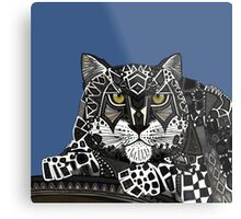 snow leopard blue Metal Print