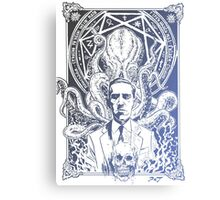 Cthulhu Howard Phillips Lovecraft HP historical society Blue Canvas Print