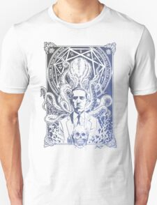Cthulhu Howard Phillips Lovecraft HP historical society Blue T-Shirt
