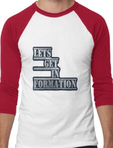 LETS GET IN FORMATION - Clothing & Accessories  Men's Baseball ¾ T-Shirt