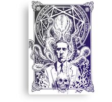 Cthulhu Howard Phillips Lovecraft HP historical society pruple Canvas Print