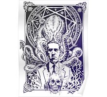 Cthulhu Howard Phillips Lovecraft HP historical society pruple Poster