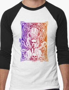 Cthulhu Howard Phillips Lovecraft HP historical society  Men's Baseball ¾ T-Shirt