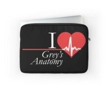 Grey's Anatomy --- I Love Grey's Anatomy (white text) Laptop Sleeve