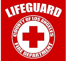 L.A. Co. Lifeguard - red Photographic Print